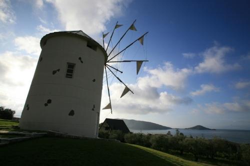 道の駅小豆島オリーブ園のギリシャ風車